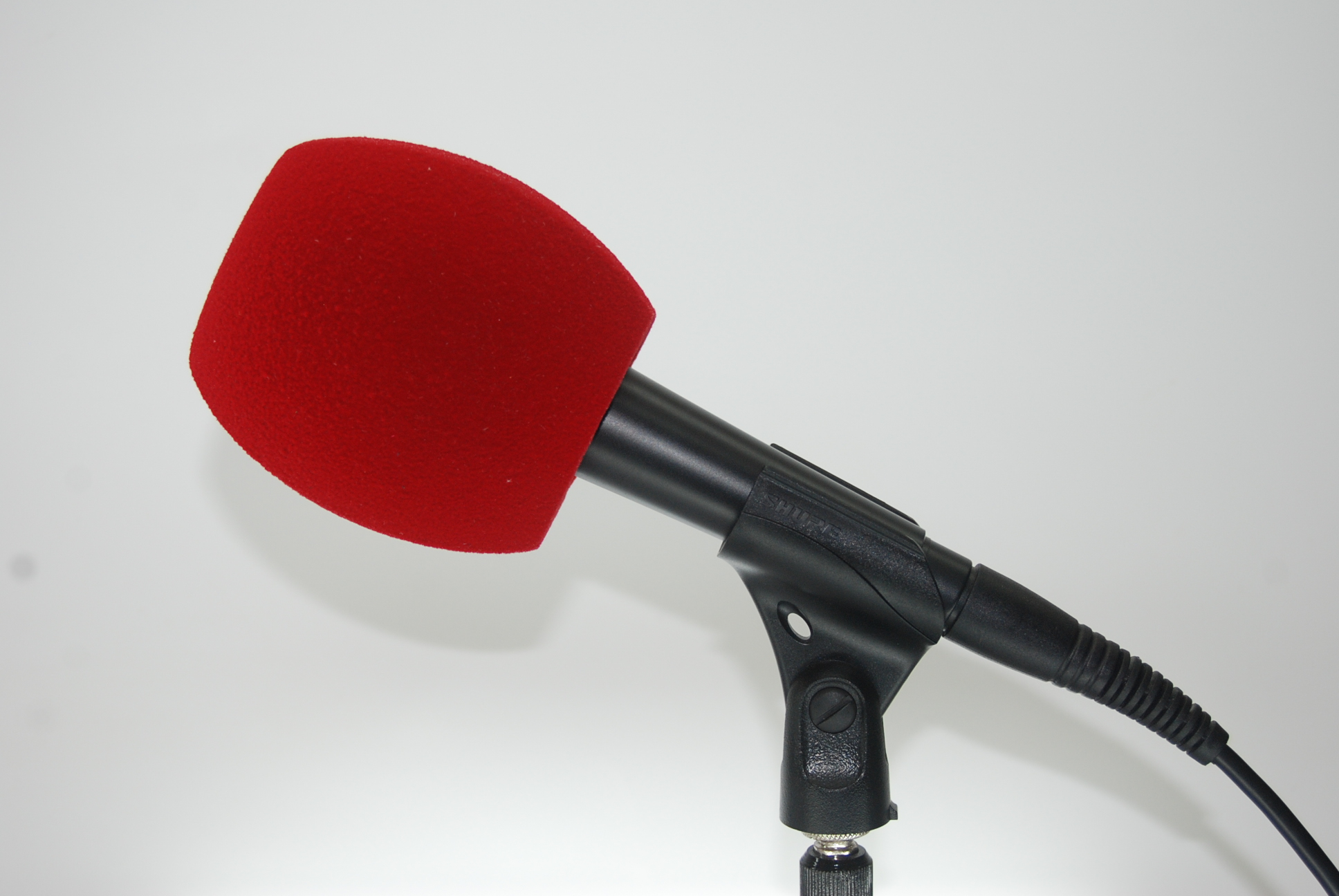 Bonnette Antivent Microphone 3 Cotes ROUGE FONCE
