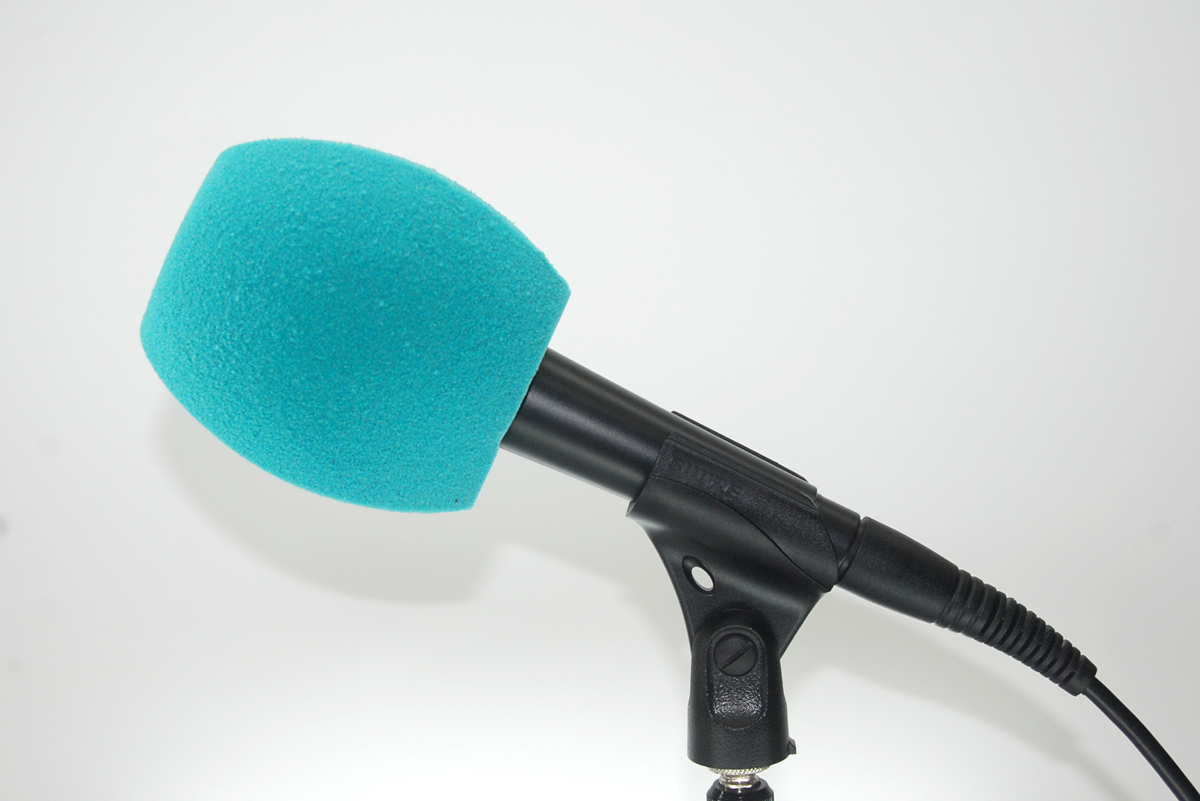 Windscreen Microphone 3 Sides Turquoise