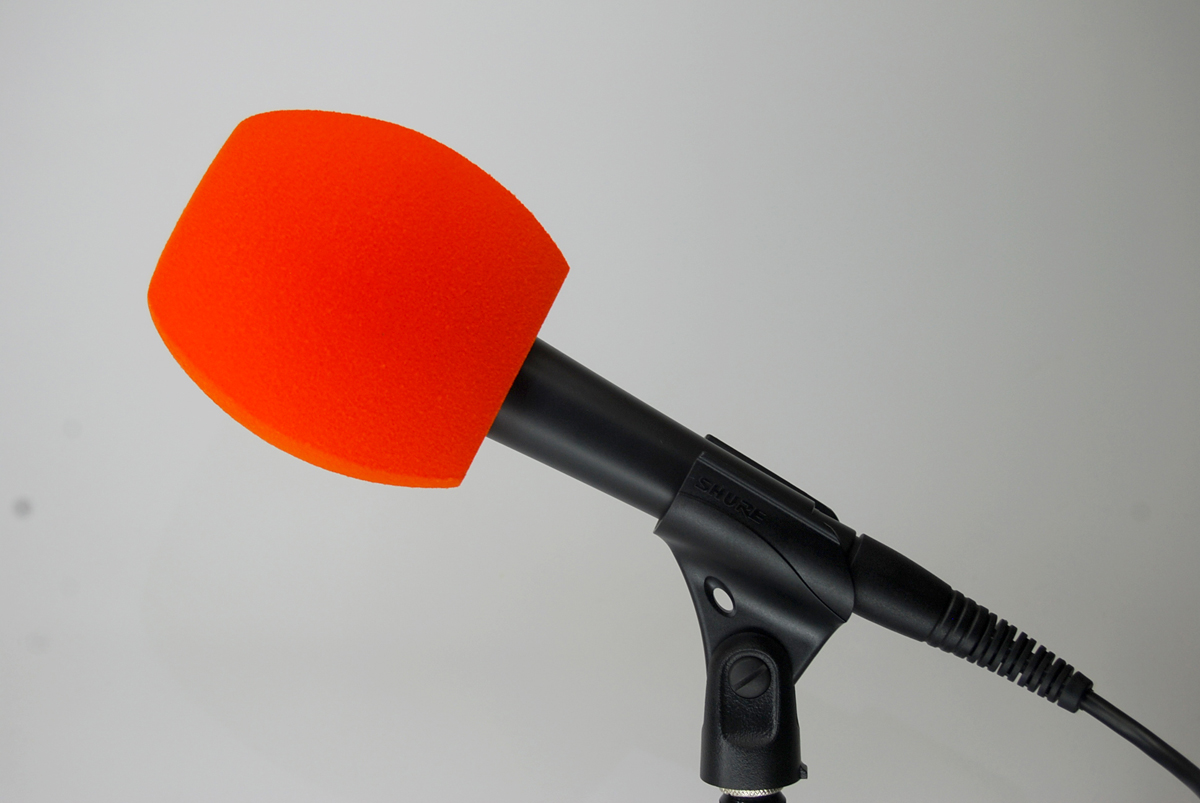 Windscreen Microphone 3 Sides ORANGE