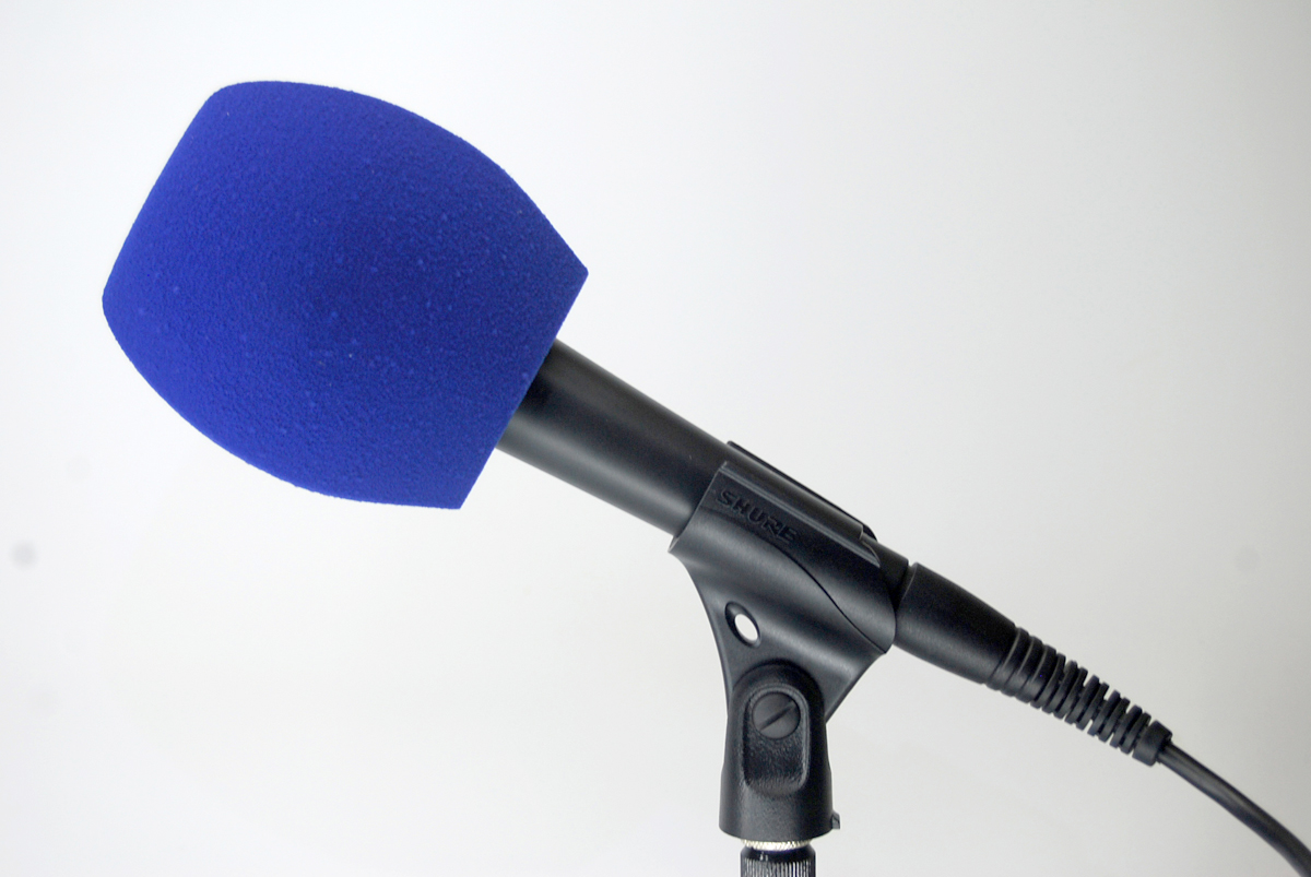 Bonnette Antivent Microphone 3 Cotes Bleue