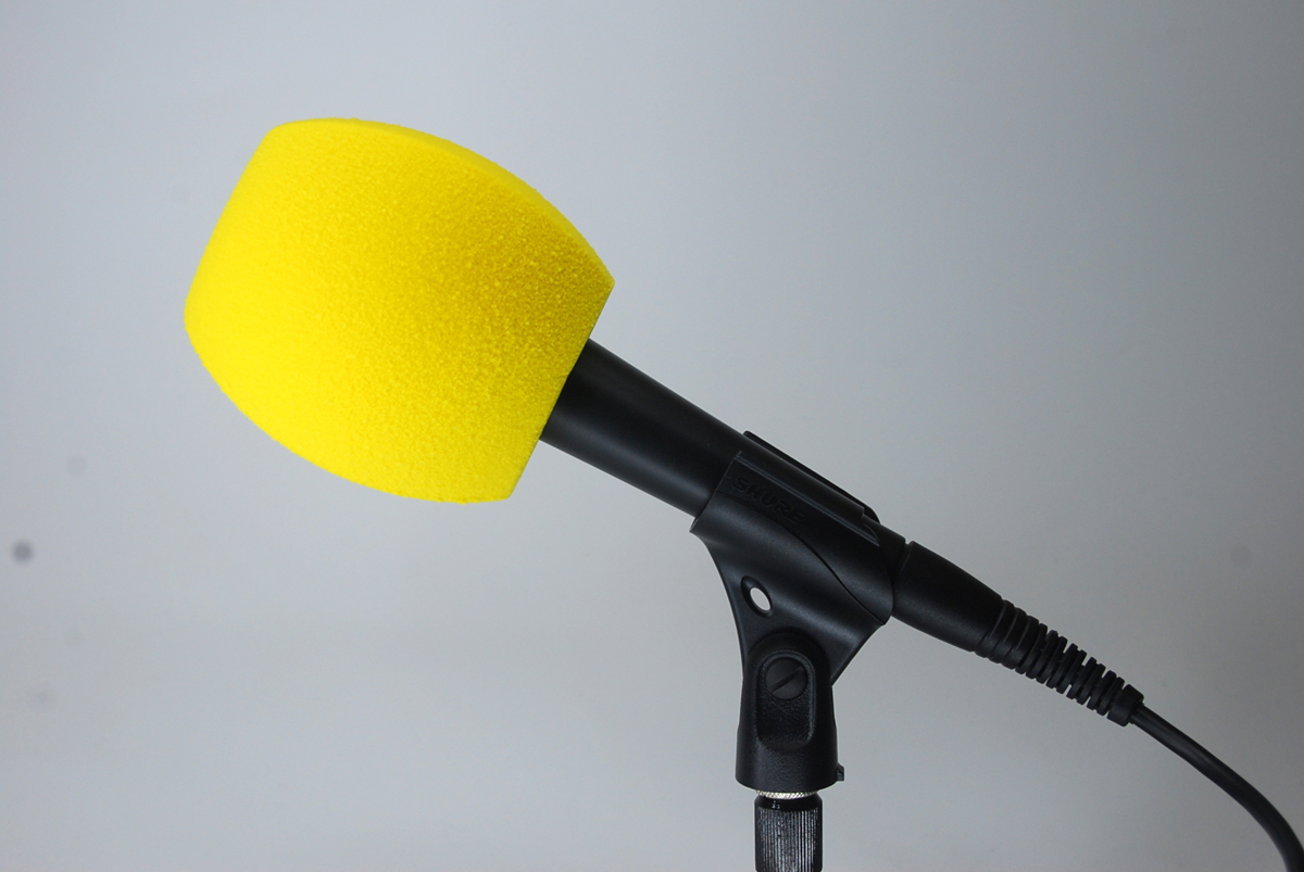 Windscreen Microphone 3 Sides YELLOW