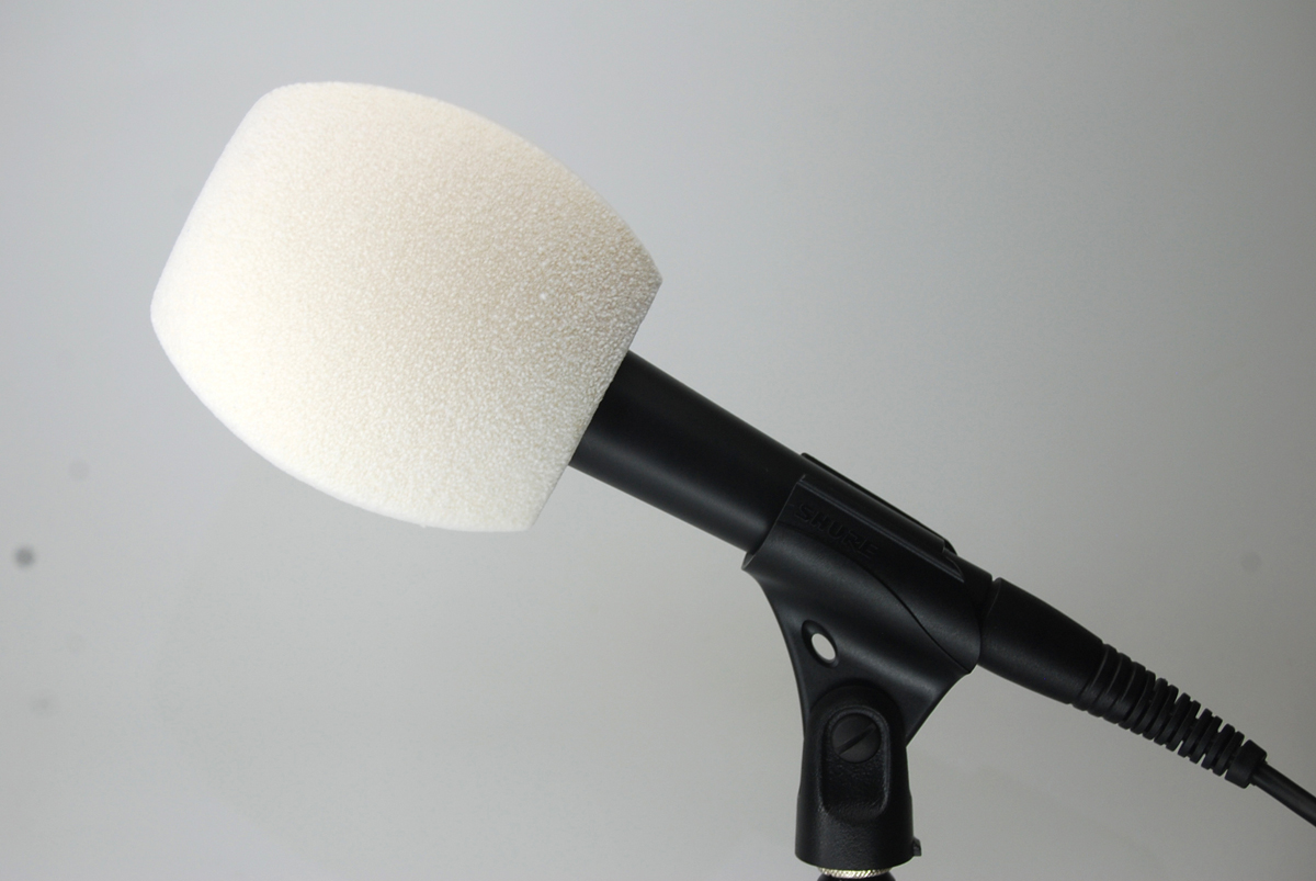 Windscreen Microphone 3 Sides WHITE