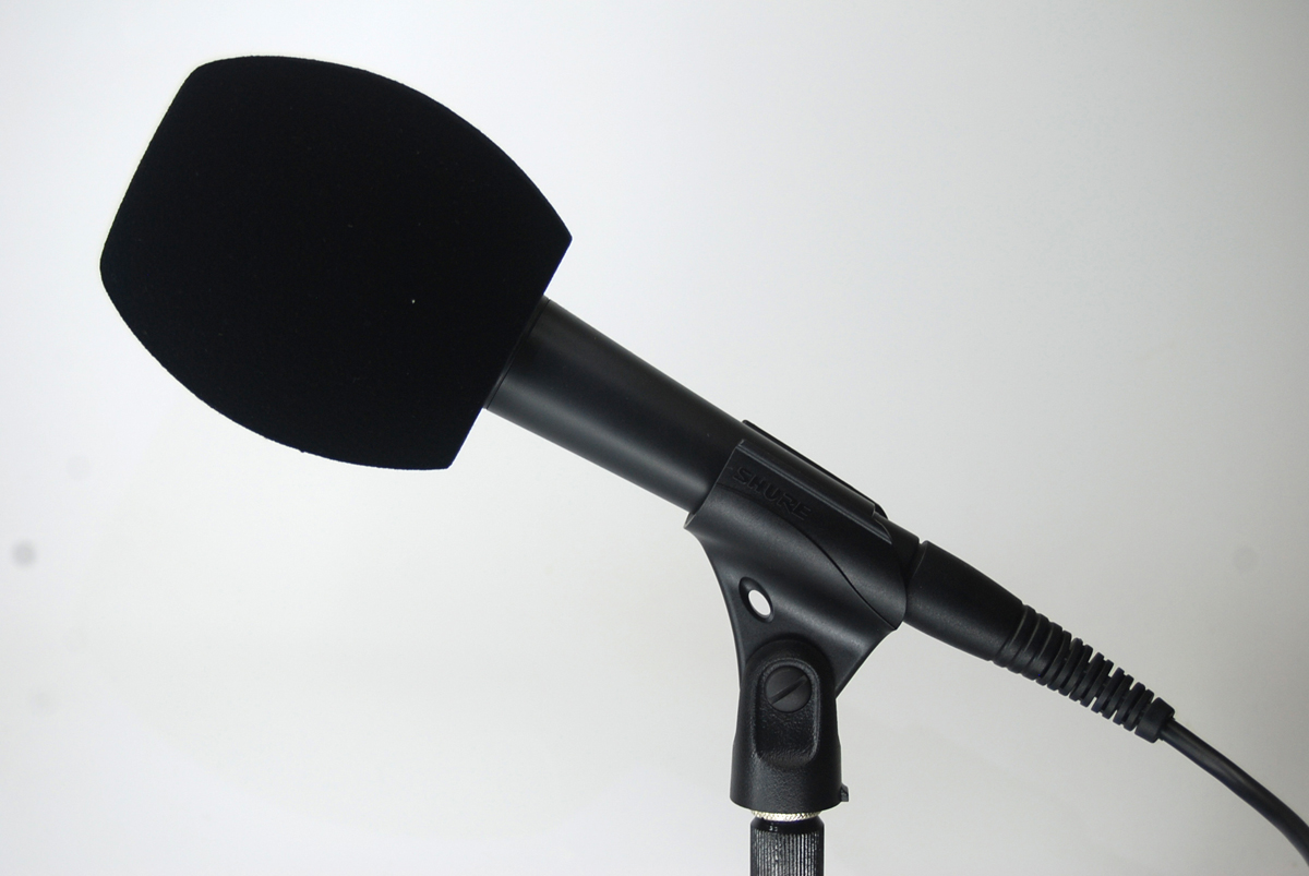 Windscreen Microphone 3 Sides BLACK