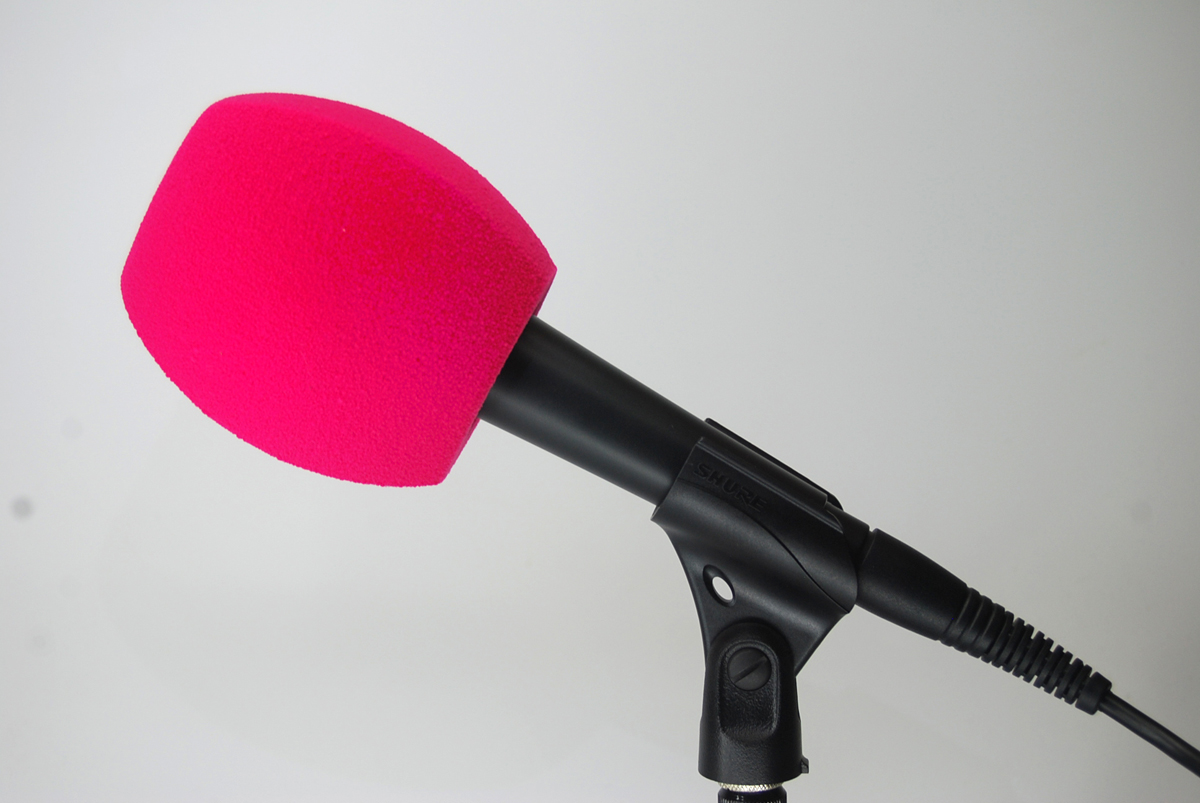 Bonnette Antivent Microphone 3 Cotes ROSE