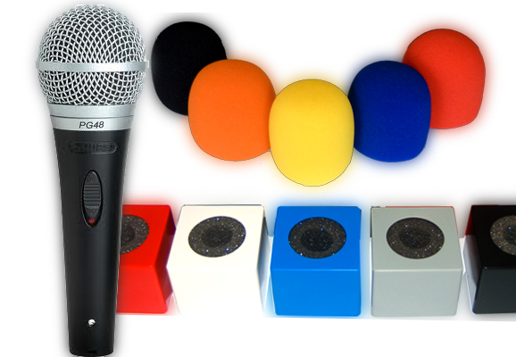 Reporter Mic Shure PG48+ Cubo + Antiviento
